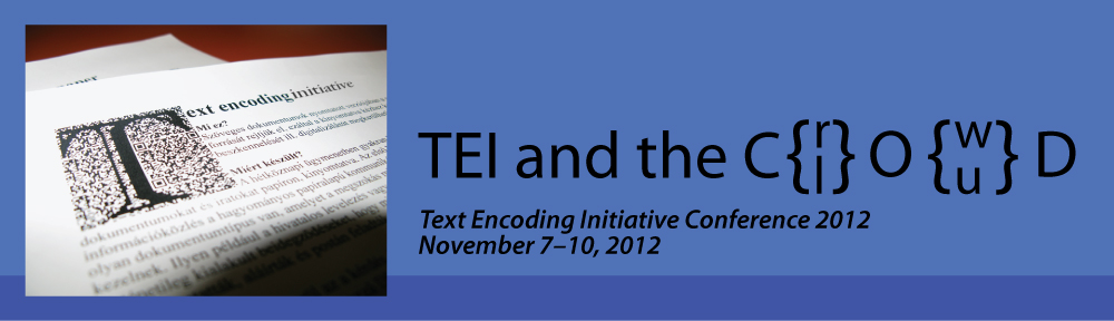 TEI Conference 2012